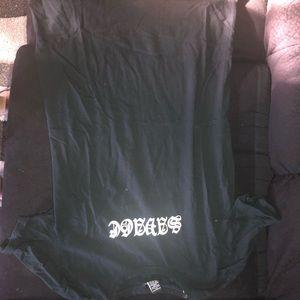 Black SAVAGE T-shirt dress